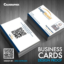 Business Card Legal Shield Template with Picture 081408