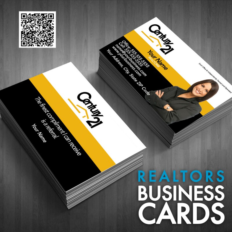 Card Century Template - Century 21 business cards template