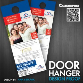 "Door Hangers 4""X 7"" on 16PT with UV Standard Die Cut"