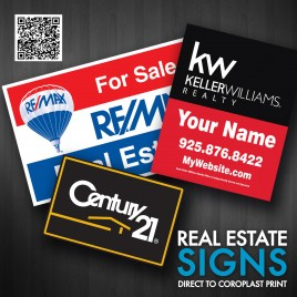 "Real Estate Sign 24"" X 18"""