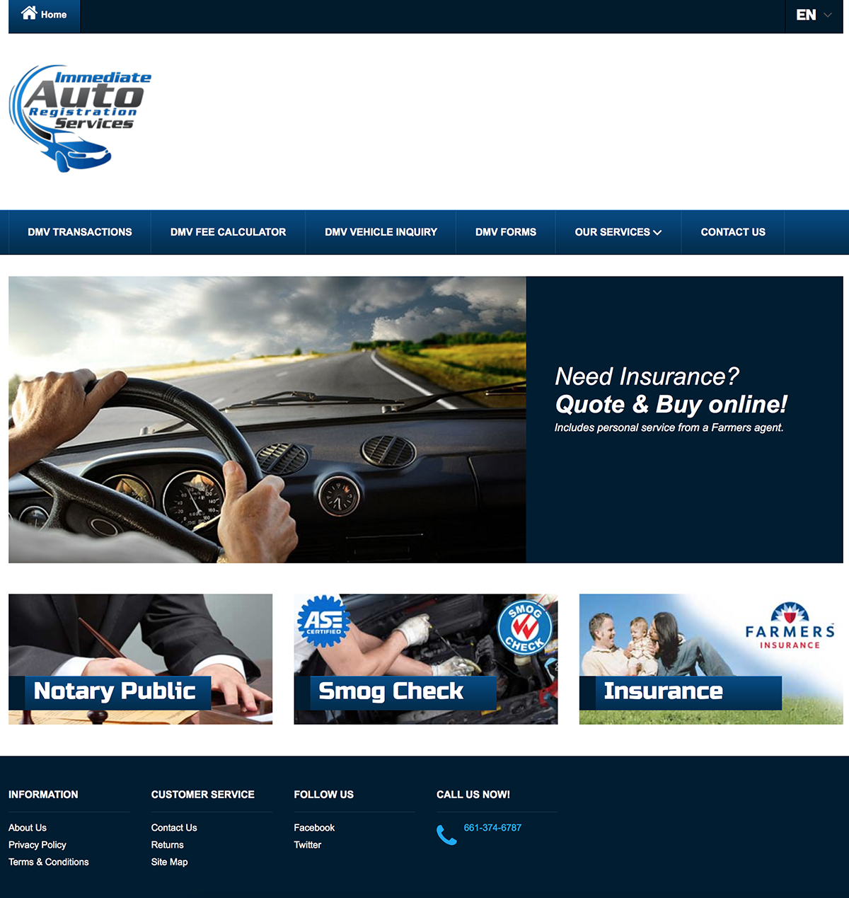 Immediate Auto Registration Services